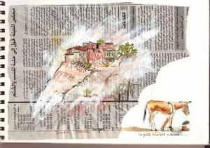 aquarelle-sur-papier-journal-viviane-barbin