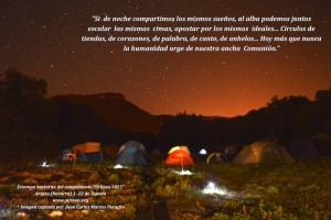 Si de noche compartimos los mismos sueños, al alba podemos juntos escalar las mismas cimas, apostar por los mismosideales…